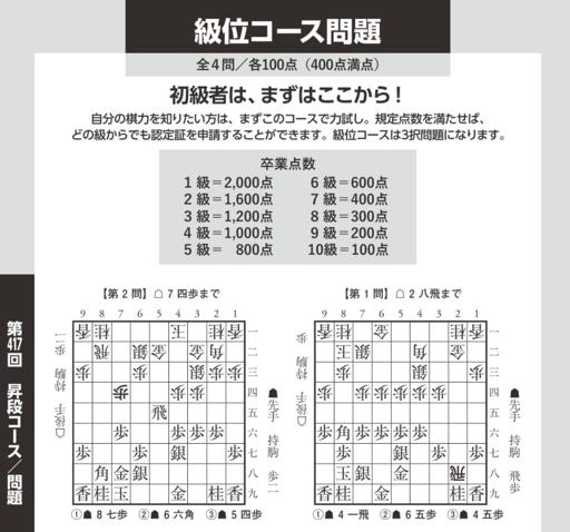 将棋世界2019年9月号昇段コース級位 1.PNG