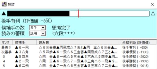 豊島将之名人対羽生善治九段 なぜ投了 132手目の評価値その2 激指六段+++.PNG